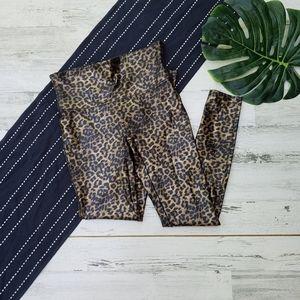Spanx  Faux Leather Leopard Leggings Size Large